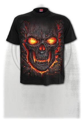 SKULL LAVA - T-Shirt Black