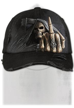 BONE FINGER - Baseball Cap Distressed with Metal Clasp