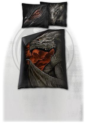 MAJESTIC DRACO - Single Duvet Cover + UK And EU Pillow case