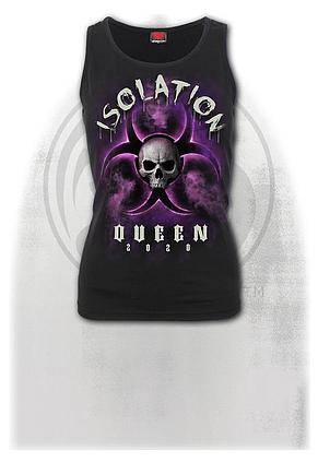 ISOLATION QUEEN - Razor Back Top Black