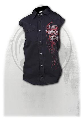 DARYL WINGS - Sleeveless Worker Shirt Black