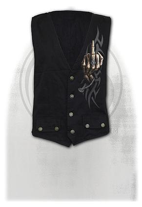 BONE FINGER - Gothic Waistcoat Four Button with Lining