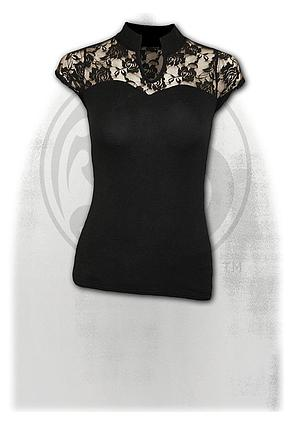 GOTHIC ELEGANCE - Lace High Neck Corset Black